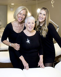Catherine, An and Rachel Hinds